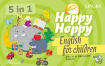 HAPPY HOPPY 5 IN 1 ENGLISH FOR CHILDREN - TÁRSASJÁTÉK