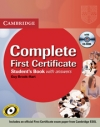 COMPLETE FIRST CERTIFICATE STUDENTS BOK WITH ANSWERS WITH CD-ROM