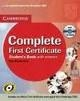 COMPLETE FIRST CERTIFICATE STUDENTS BOOK WITH ANSWERS WITH CD-ROM