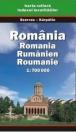 ROMÁNIA TÉRKÉP 1:700000